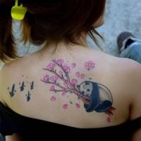 foto-sfondi-tatuaggi-colorati-panda-fiori