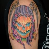 foto-sfondi-tatuaggi-colorati-zucca-halloween