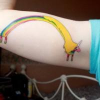 foto-sfondi-tatuaggi-colorati-unicorno-arcobaleno