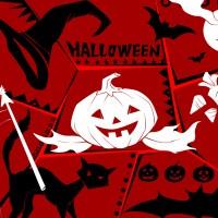 immagini-sfondi-ipad-zucca-rosso-halloween